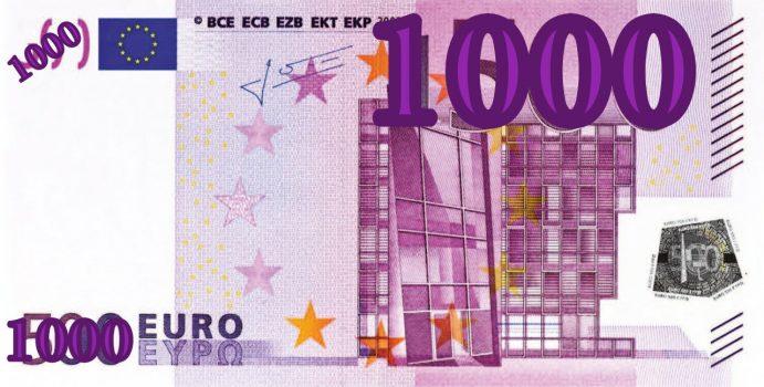 1000 €. MIL EUROS